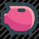 bank, money, pig, piggy, safe, save icon