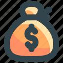 bag, business, finance, money, sacks icon