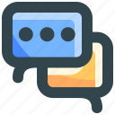 chat, chatting, dialogue, message, talk icon