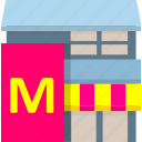 building, food shop, house, noshery icon