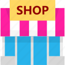 building, house, market, shop, shopping, store icon