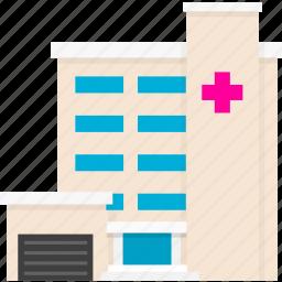 ambulance, building, clinic, emergency, hospital, house, medical icon