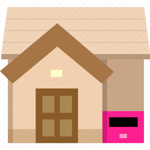 building, house, post, post office, postoffice icon