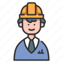 construction, engineer, engineering, helmet, industry, work, worker icon