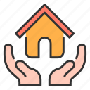 architecture, estate, home, house, insurance, real, security icon