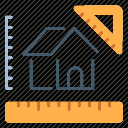 Architecture, design, estate, exterior, home, house icon