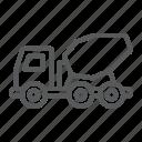 cement, concrete, constrution, mixer, transport, truck, vehicle