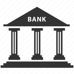 bank, finance, office icon