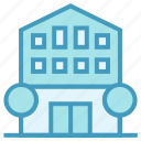 apartment, building, center, company, office icon