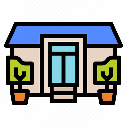 architecture, construction, house, resident icon