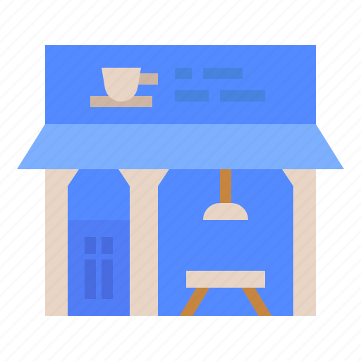 architecture, building, cafe, coffee, shop icon