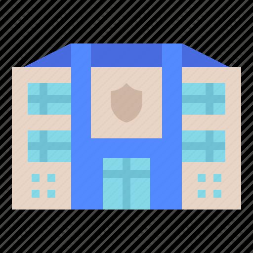 architecture, jail, police, prison, station icon