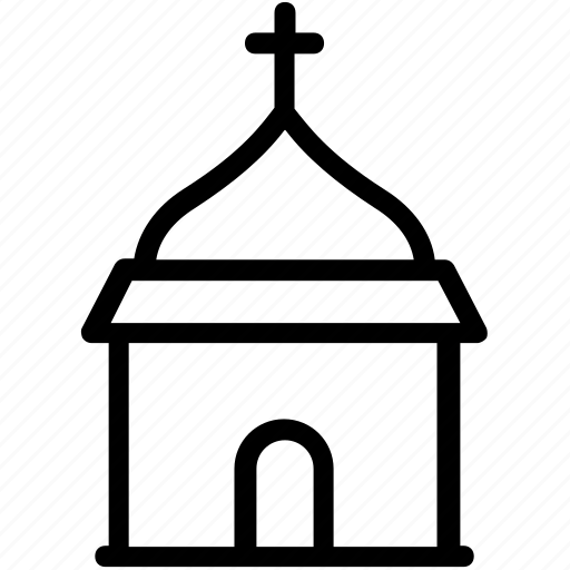 church, church with steeple, religious place, temple, worship building icon