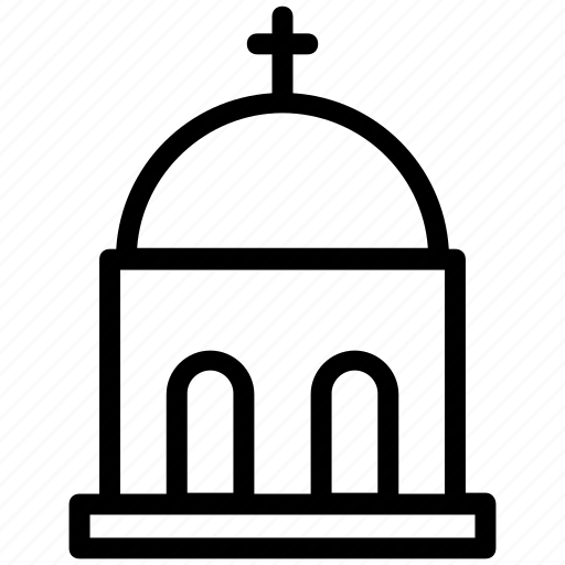 chapel, church, dome building, religious place, temple icon
