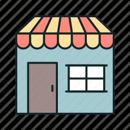 barbershop, building, shop, store icon icon