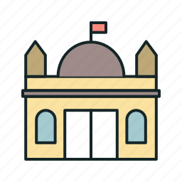 building, government, institution, monument icon, • architecture icon