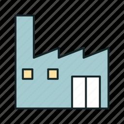 industrial icon, • building icon