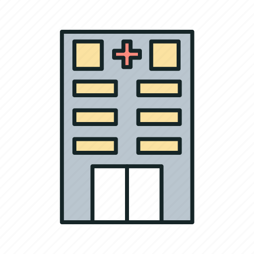 buildings, hospital, hospital facilit, medical, medical facility, y hospital building icon