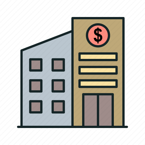bank, building, finance, financial icon icon