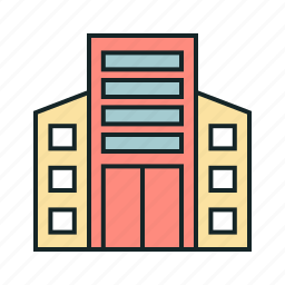 city, hotel, office icon, • building icon