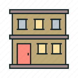 building, estate, flats, real icon icon