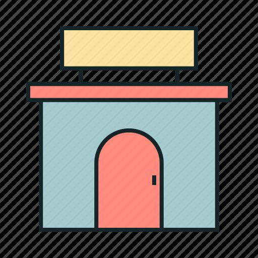 building, market, shop, store icon icon