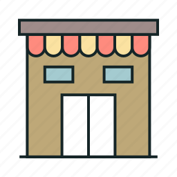 buildings, commerce, commercial store, interface, shop, shopping, shops, stores, symbol icon