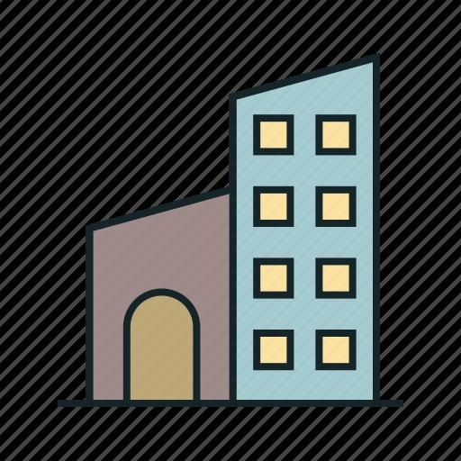 hotel, hotel building, real icon, • building icon