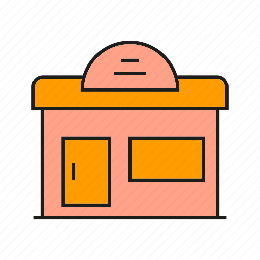 building, edifice, real estate, residence, retail, shop, store icon