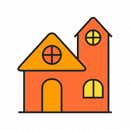 building, dwelling, edifice, home, house, real estate, residence icon
