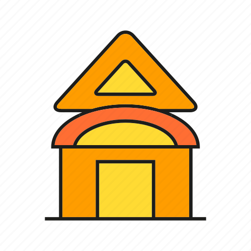 building, door, edifice, home, house, real estate, residence icon
