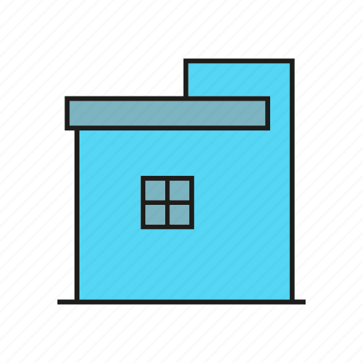 building, edifice, home, house, real estate, residence, window icon
