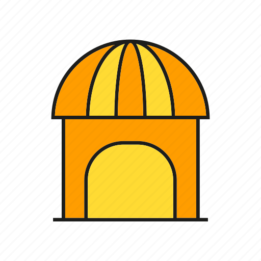 building, dome, edifice, home, house, real estate, residence icon