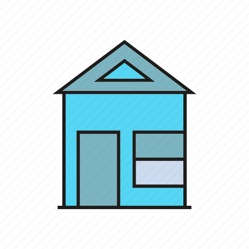 building, edifice, home, house, real estate, residence icon