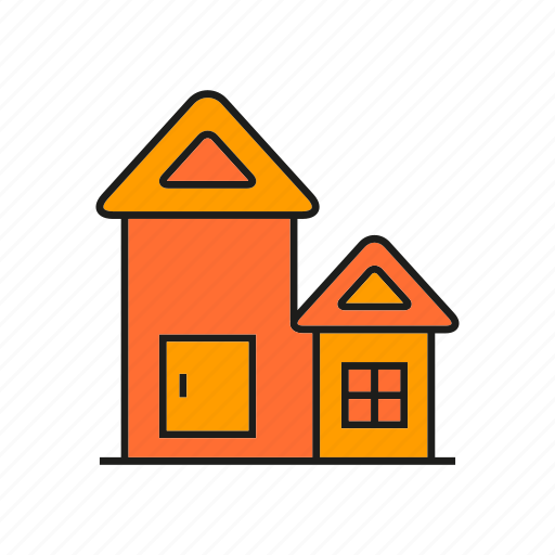 building, edifice, home, house, real estate, residence, roof icon