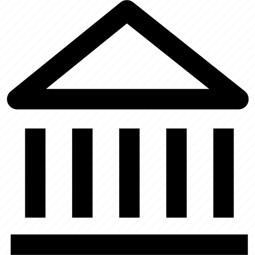 bank, building, construction, estate, finance, house icon
