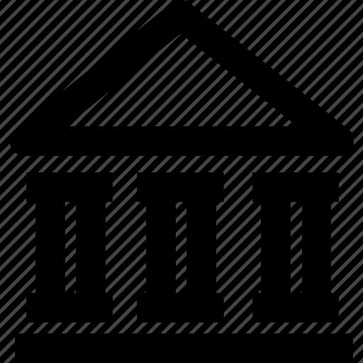bank, building, construction, estate, house icon