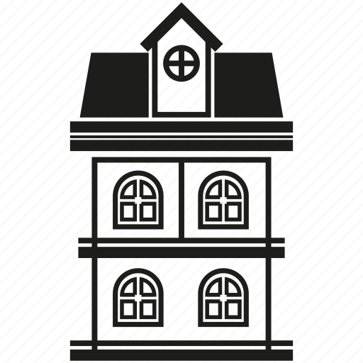 building, house, residence, window icon