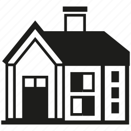 building, house, residence, roof icon