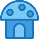 architecture, building, home, house, landmark, mushroom house icon