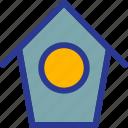 architecture, bird, bird house, building, home, landmark icon