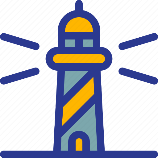 architecture, building, guard, landmark, lighthouse, sea icon