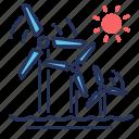 power, turbine, wind energy, windmill icon