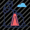 gas, oil, pumping, unit icon