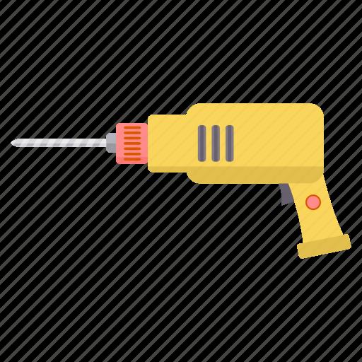 drill, driller, drilling, machine, repair icon