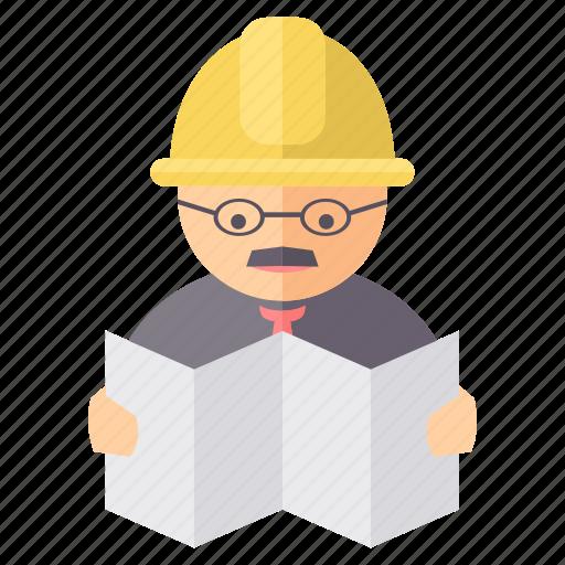 engineer, mechanic, technician, worker icon
