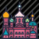 st. petersburg, church, landmark, castle, building, travel, russia