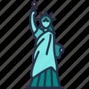 statue, landmark, monument, liberty, historical, america, building