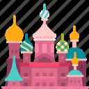 landmark, st. petersburg, castle, church, russia, building, travel