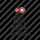 communication, radio, radio tower, tower icon